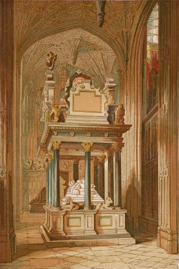 'Tomb of Queen Elizabeth. - Westminster Abbey', c1845, (1864)-Unknown-Giclee Print
