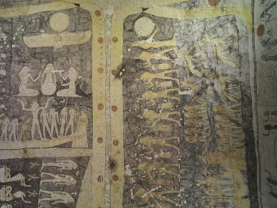 Tomb of Ramses IX, Mural Paintings Representing Book of Caverns in Funerary Room--Giclee Print