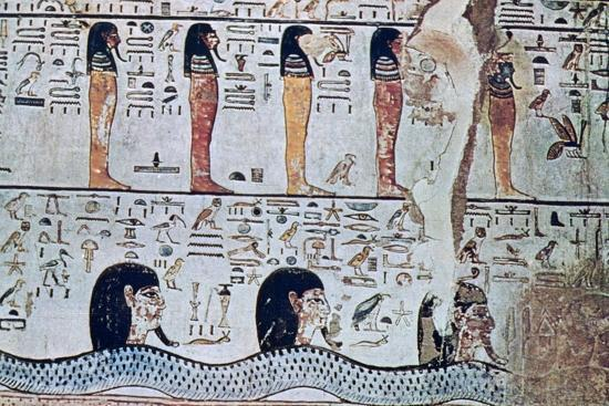 Tomb of Sethi I, Valley of the Kings, Egypt, 13th century BC. Artist: Unknown-Unknown-Giclee Print