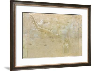 Tomb of Seti II, Entrance Relief Illustrating Litany of Ra from 19th Dynasty--Framed Giclee Print