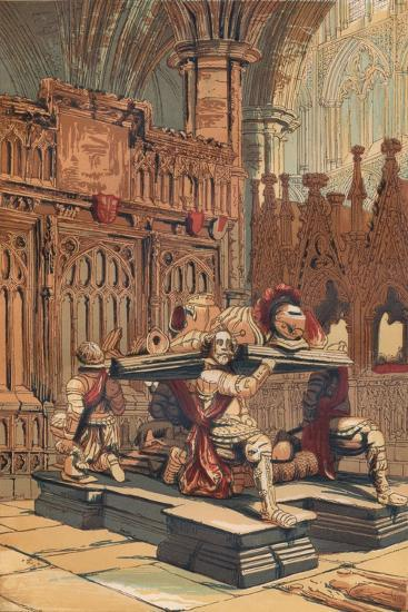 'Tomb of Sir Francis Vere in Westminster Abbey', c1845, (1864)-Unknown-Giclee Print