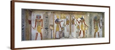 Tomb of Tausert, Expanded by Setnakht, Burial Chamber, Mural Paintings, Horus and Osiris--Framed Giclee Print