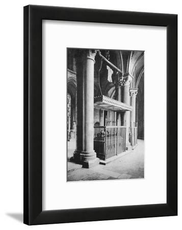 'Tomb of the Black Prince, Canterbury Cathedral', 1903-Carl Norman-Framed Photographic Print