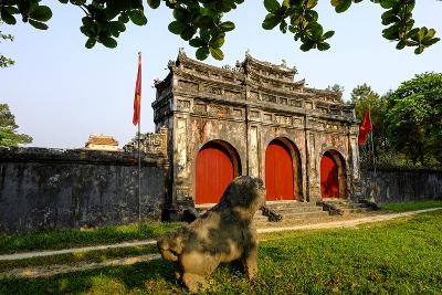 Tomb of the Emperor Minh Mang of Nguyen Dynasty, Sung an Palace, Group of Hue Monuments-Nathalie Cuvelier-Photographic Print