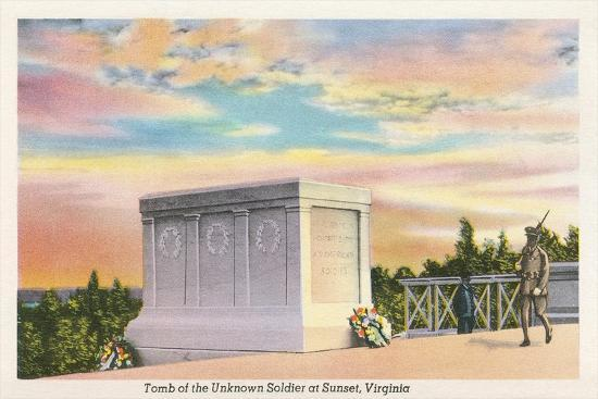 Tomb of Unknown Soldier, Arlington National Cemetery--Art Print