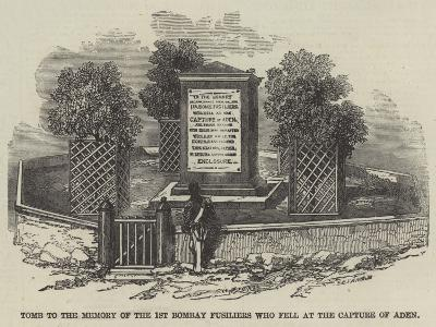 Tomb to the Memory of the 1st Bombay Fusiliers Who Fell at the Capture of Aden--Giclee Print