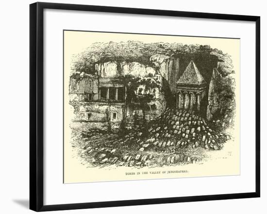 Tombs in the Valley of Jehoshaphat--Framed Giclee Print