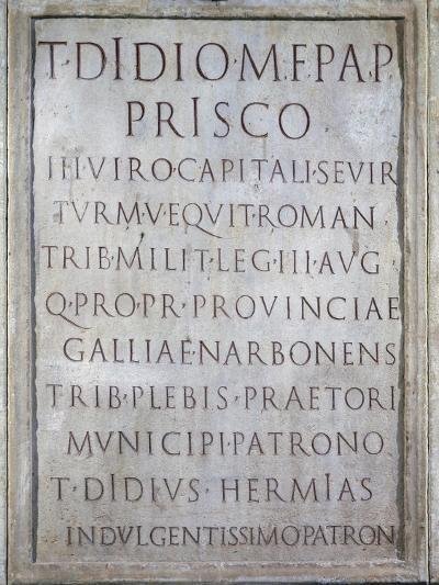Tombstone of Tito Didio Prisco--Giclee Print