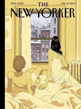 Perfect Storm - The New Yorker Cover, February 10, 2014 by Tomer Hanuka