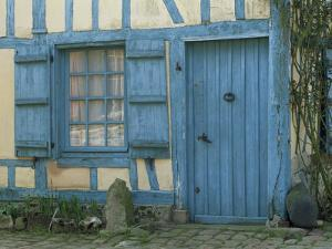 Ancient Timbered House with the Date of 1691 Carved Above Doorway, Gerberoy, Oise, Picardie, France by Tomlinson Ruth