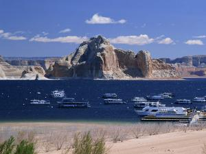 Boats Used for Recreation Moored in Wahweap Marina on Lake Powell in Arizona, USA by Tomlinson Ruth