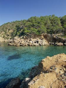 Clear Turquoise Waters of Cala Xucla, Near Portinatx, Ibiza, Balearic Islands, Spain, Mediterranean by Tomlinson Ruth