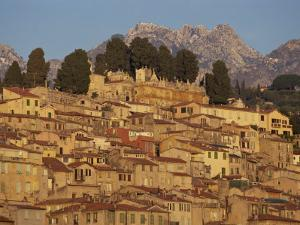 Menton Old Town at Dusk, Provence, Cote D'Azur, France, Europe by Tomlinson Ruth