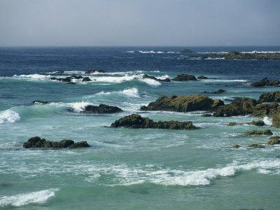 Rocky Coastline as Seen from the 17 Mile Drive, on the Monterey Peninsula, California, USA