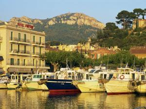 View across Harbour in the Evening, Cassis, Bouches-Du-Rhone, Cote D'Azur, Provence, France by Tomlinson Ruth