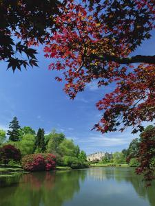 View across Pond to House, Sheffield Park Garden, East Sussex, England, United Kingdom, Europe by Tomlinson Ruth
