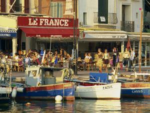 View across the Harbour in the Evening, Cassis, Bouches-Du-Rhone, Cote D'Azur, Provence, France by Tomlinson Ruth
