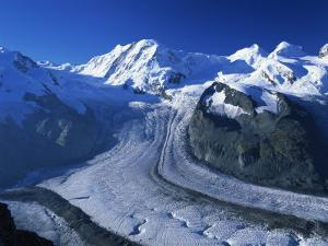 View to Liskamm and the Gorner Glacier, Gornergrat, Zermatt, Valais, Switzerland, Europe by Tomlinson Ruth