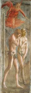 Adam and Eve Banished from Paradise, C.1427 (Fresco) (Pre-Restoration) (See also 200134 and 30029) by Tommaso Masaccio
