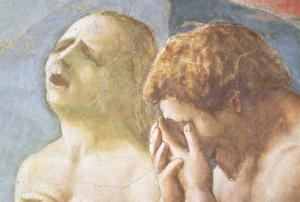 Adam and Eve Banished from Paradise, circa 1427 (Detail) by Tommaso Masaccio