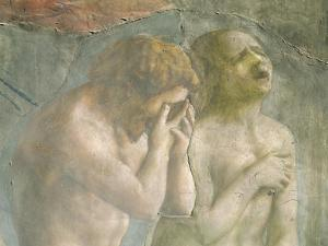 Adam and Eve Banished from Paradise, circa 1427 (Pre-Restoration) (Detail) by Tommaso Masaccio