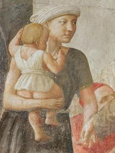 Detail of the Woman and Child, from St. Peter and St. Paul Distributing Alms, C.1427 (Detail) by Tommaso Masaccio