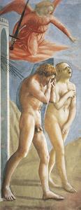 Expulsion from the Garden of Eden by Tommaso Masaccio