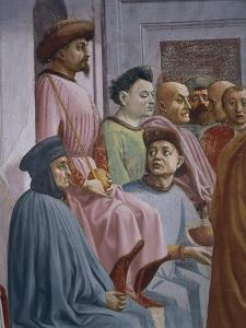 Miracle of Theophilus, Detail from the Raising of the Son of Theophilus by Tommaso Masaccio
