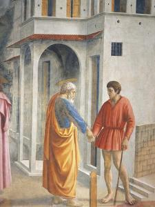 Peter and John, Detail from the Tribute Money by Tommaso Masaccio
