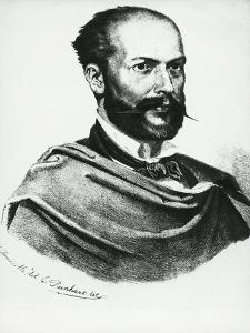 Portrait of Italian Poet, Arnaldo Fusinato by Tommaso Masaccio
