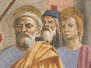 Saint Peter's Face, Detail from Saint Peter Healing the Sick by Tommaso Masaccio