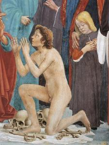 Son of Theophilus, Detail from the Raising of the Son of Theophilus by Tommaso Masaccio