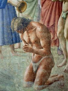 St. Peter Baptising the Neophytes, circa 1427 (Detail) by Tommaso Masaccio
