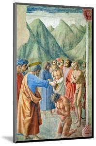 St. Peter Baptising the Neophytes, circa 1427 by Tommaso Masaccio