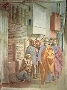 St. Peter Healing with His Shadow, circa 1427 by Tommaso Masaccio
