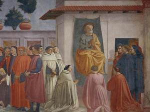 The Raising of the Son of Theophilus by Tommaso Masaccio