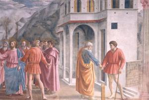 The Tribute Money, from the Brancacci Chapel, c.1426 by Tommaso Masaccio