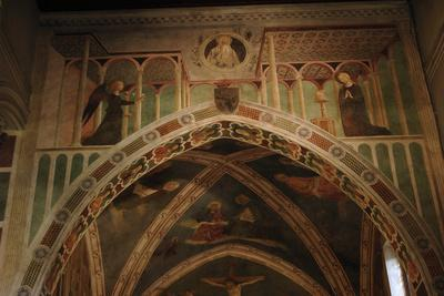 Italy. Rome. the Basilica of Saint Clement. St. Catherine Chapel. the Annunciation. Fresco by Masol