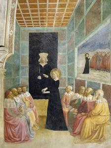 Scenes from the Life of St. Catherine: Saint Catherine's Disputation with the Philosophers by Tommaso Masolino Da Panicale