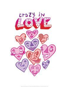 Crazy In Love - Tommy Human Cartoon Print by Tommy Human