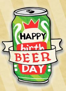 Happy Beer Day - Tommy Human Cartoon Print by Tommy Human
