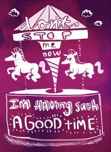 I'm Having Such A Good Time - Tommy Human Cartoon Print by Tommy Human