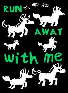 Run Away With Me - Tommy Human Cartoon Print by Tommy Human