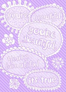You're Beautiful.. It's True - Tommy Human Cartoon Print by Tommy Human