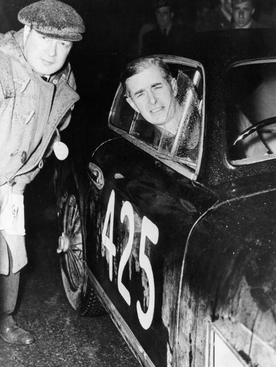 Tommy Wisdom, Winner of the Grand Turismo Class of the Mille Miglia, 1951--Photographic Print