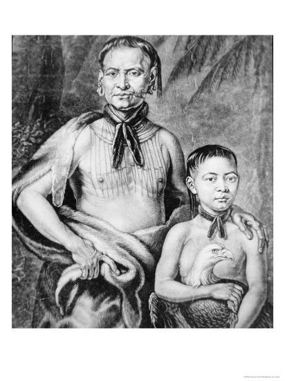 Tomochichi and His Nephew Toonahowi of the Lower Creek Tribe of the South East, 1734--Giclee Print