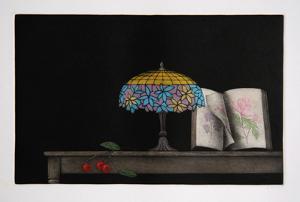 Cherries Lamp and Book by Tomoe Yokoi