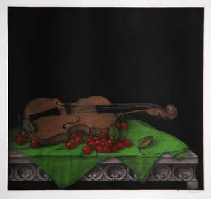 Cherry and Violine by Tomoe Yokoi