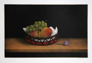 Grapes and Peaches by Tomoe Yokoi