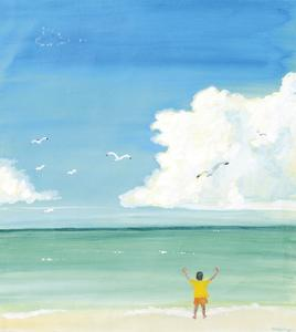 a boy front of the seaside,2016 by Tomoko FURUYA